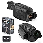 """Night Vision Monocular Infrared Night Vision Scope Digital Monocular with 1.5"""" TFT LCD Take Photo/Video Recording/Playback Function for Outdoor/Surveillance/Camping/Hiking/Bird Watching with 32GB Card"""