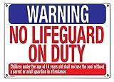"Poolmaster Warnschild ""Warning No Lifeguard"
