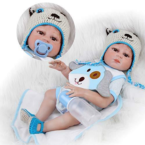 ZIYIUI Reborn Poupée Bébé Garçon 20 Pouces 50cm Silicone Complet du Corps Réaliste Fait Main Jouets de Bébé Nouveau-né Magnétique Cadeaux de Noël Reborn Toddler Dolls