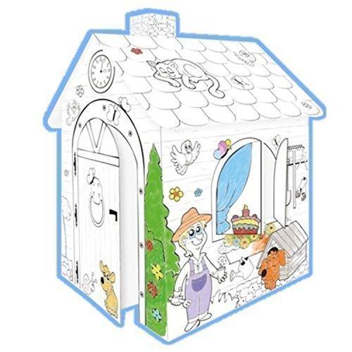 TikTakToo Kartonhaus Spielhaus zum Bemalen