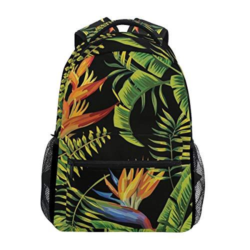 Schulrucksack Tropic Palm Bananenblatt Und Pflanzen Schule Leichte Bedruckte Umhängetasche Bookbag Student Casual Reiserucksack College Durable Stylish Einzigartiges Geschenk