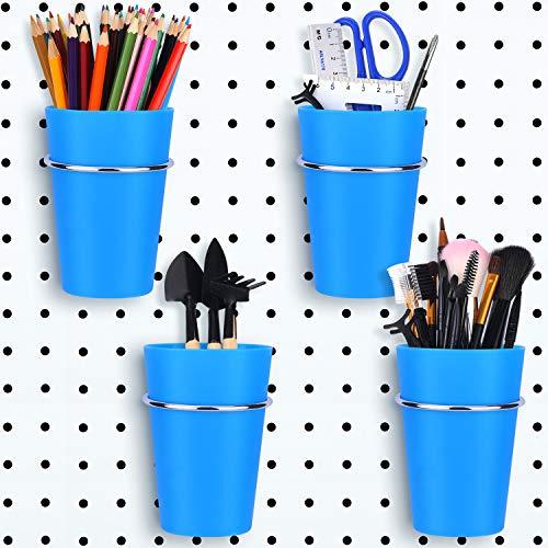 4er-Set Stecktafel-Mülleimer mit Ringen, Metallhaken, Stecktafel, Becherhalter, Organizer, Körbe für Zuhause, Büro, Organisation