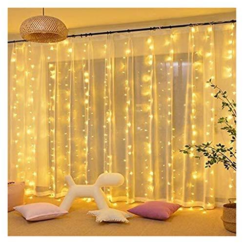 TTW 3x3m RGB LED Cortina de Navidad String Lights 8 Modos 300 Leds IP44 Boda Año Nuevo Garland Dormitorio Dormitorio Decoración de Fiesta
