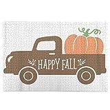 Rompecabezas de 1000 piezas para adultos Un viejo camión vintage con la cosecha calabaza otoño coche parche diseño granja dibujo alimentos rompecabezas para niños niñas mayores regalos