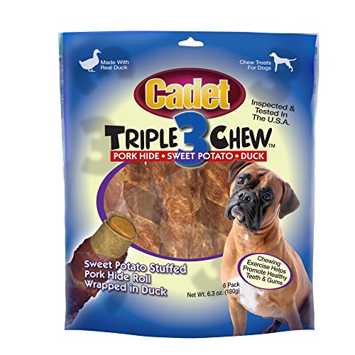Cadet Triple Chew Duck Dog Treats