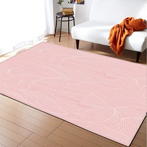 Alfombra de terciopelo suave grueso alfombra inferior antideslizante para el dormitorio de la sala de estar dibujos animados rosa hoja piso pad kid's Room Play Mat Nursery Runner Alfombra,40 * 60cm