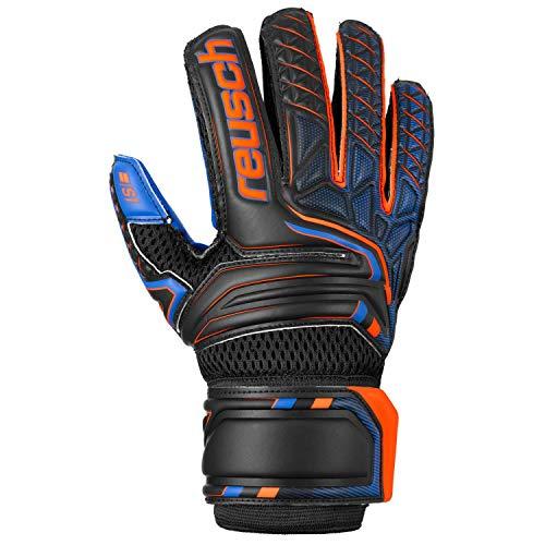 Reusch Herren Attrakt S1 Junior Torwarthandschuhe, Black/Shocking orange/deep Blue, 5