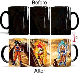 Gosweet Son Goku Mug Ceramic Heat Reactive Dragon Ball Z Color Change Coffee Cup