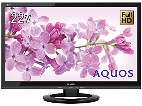 『シャープ 22V型 液晶 テレビ AQUOS LC-22K45-B フルハイビジョン 外付HDD対応(裏番組録画) ブラック』の1枚目の画像