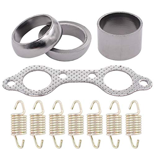 XtremeAmazing Exhaust Muffler Manifold Gasket Spring Kit Compatible with Polaris RZR 800 2008-2010