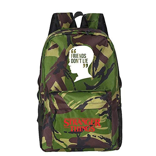 Backpack School Stranger Things Printed College Laptop Bag For Adults/Elementary/middle School Students With Charging Hole 11-18 inches
