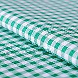 Hans-Textil-Shop Stoff Meterware Karo 5x5 mm Baumwolle -