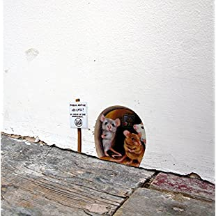 Miniature No Cats! Scaredy Mice Mouse Hole Wall Sticker / Decal:Anders-als-andere