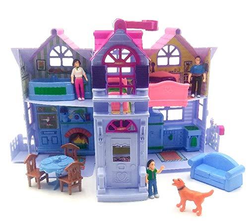 Toy My Sweet Home. Viajes, casa de muñecas y 13 Accesorios, Mayores de 3 años
