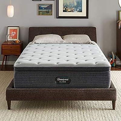 Beautyrest Silver BRS900 15 inch Plush Pillow Top Mattress, King, Mattress Only