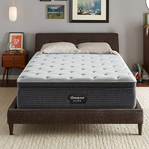 Beautyrest Silver BRS900 15 inch Medium Pillow Top Mattress, King, Mattress Only