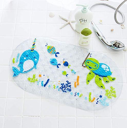 Mayco Bell Badewannen-/Duschmatte für Kinder, antibakteriell, phthalatfrei, Latex, maschinenwaschbar, Cartoon-Motive (Drachen)