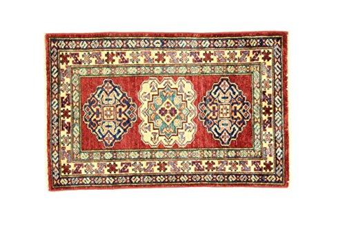 Eden Carpets Kazak Super mollen, wol, meerkleurig, 63 x 86 cm