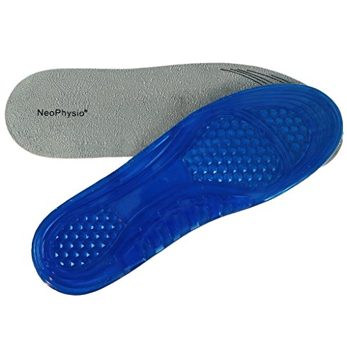 NeoPhysio Shock Absorbing Gel Insoles for Shoes & Boots. Great for Heel...
