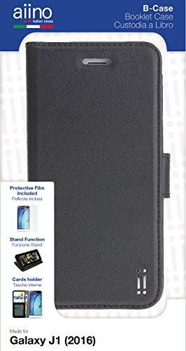 Aiino aisgj1cv-bcbk Handy Bookstyle mit Taschen Booklet für Samsung Galaxy J12016, schwarz