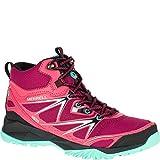 Merrell Women's Capra Bolt Mid Waterproof Hiking Boot, Bright Red, 9 M US