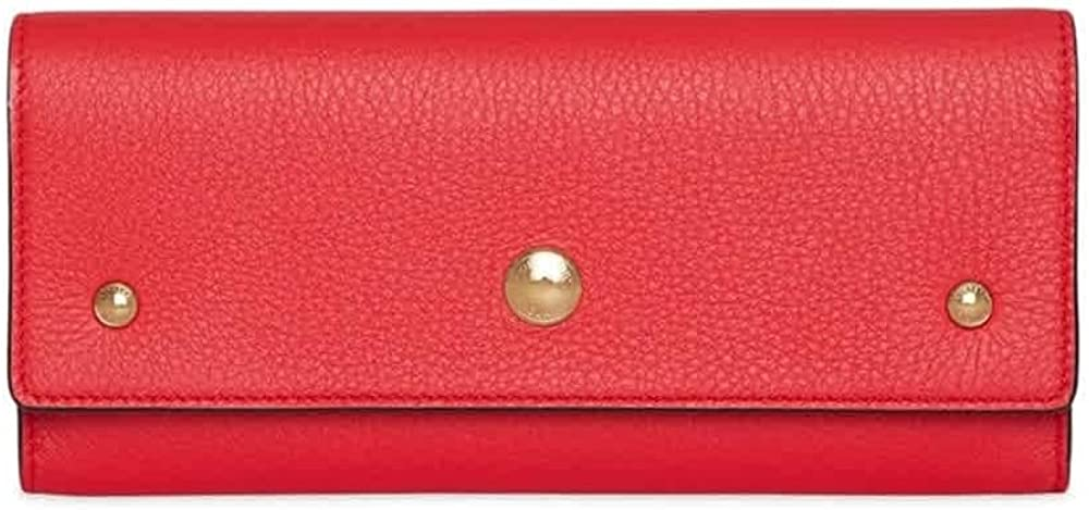 Burberry Bright Military Red Leather Continental Wallet