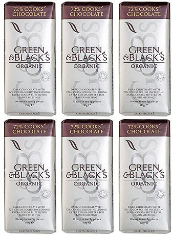 (6 PACK) - Green & Blacks - Organic DARK Cooking Chocolate | 150g | 6 PACK BUNDLE