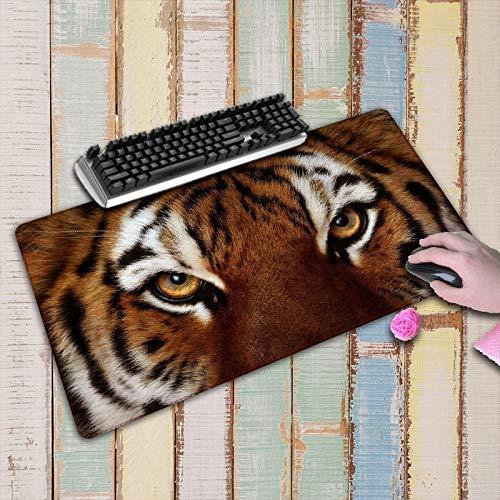 Alfombrilla de Ratón con Diseño de Tigre Animal Grande Alfombrilla Antideslizante para Ordenador Alfombrilla de Ratón Grande para Teclado Alfombrilla de Escritorio Accesorios 800X400X3Mm