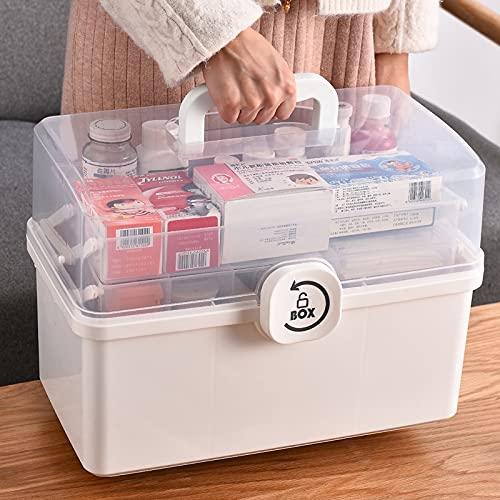 LANL Caja de almacenamiento de plástico Caja Médica Organizador Multi Funcional Gabinete de Medicina Portátil Familiar Kit de Emergencia Caja Dropship Día de San Valentín Caja de recuerdo