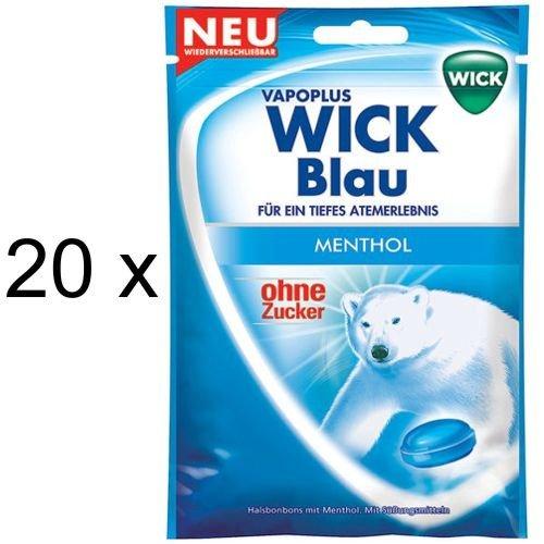 Wick Blau ohne Zucker (20x 72g Beutel)