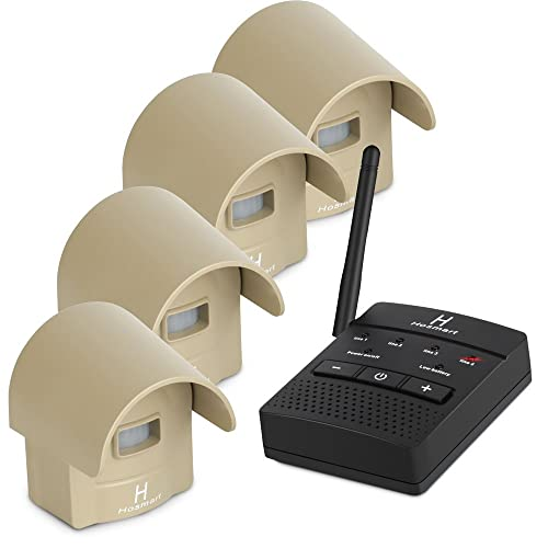 1/4 Mile Hosmart Rechargable Driveway Alarm Wireless Sensor System & Driveway Sensor Alert System