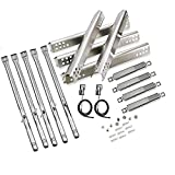 Uniflasy Replacement Parts Kit for Charbroil Performance 5 Burner 463347519, 475 4 Burner 463347017, 463673017, 463376018P2, Heat Plate Tent Shield, Grill Burner Pipe, Adjustable Crossover Tube