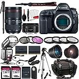 Canon EOS 5D Mark IV Digital SLR Camera Bundle with EF 24-105mm f/4L is II USM Lens + EF 50mm F1.8 STM Lens Kit Prime Travel Bundle