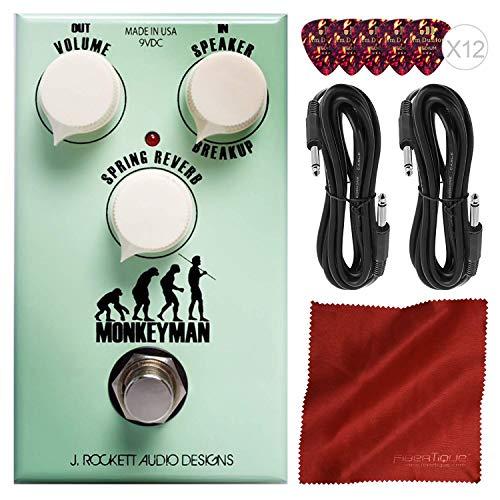 J. Rockett Audio Designs Monkeyman Distortion Guitar Effects Pedal with Basic Accessories