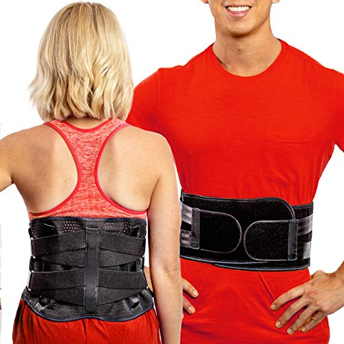 Lower Back Brace by FlexGuard Support - Lumbar Support Waist Backbrace for Back Pain Relief -...