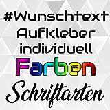 Decus Shop Wunschtext Aufkleber selbst gestalten Hologramm Oil Slick Buchstaben Zahlen Name Schriftzug Autoaufkleber Aufkleber Sticker
