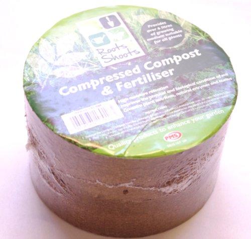 2 x Eau plaquée chrome compressé Garden Compost et engrais Bloque les 12 récipient