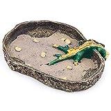 Aqua KT Reptile Terrarium Water Bowl Food Dish with Stable Base for Amphibian Lizard Snake Supplies