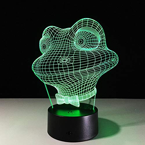 Tierfrosch 3D Led Usb Nachtlichter 7 Farben Tischlampen Nachttischchen Baby Schlafen Weihnachten Geburtstagsgeschenke Fee