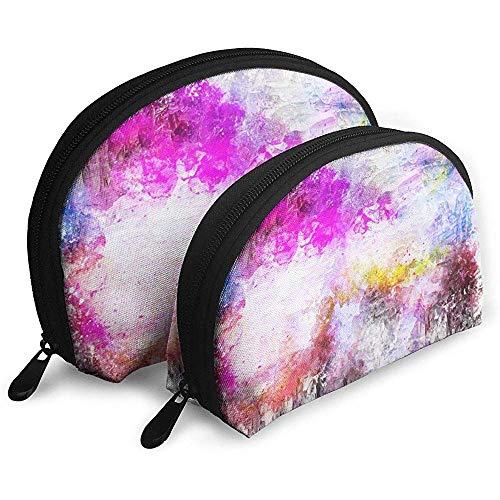 Kunst Paint Splash Tragbare Taschen Make-up Bag Kulturbeutel, Multifunktions tragbare Reisetaschen Kleine Make-up Clutch Pouch mit Reißverschluss