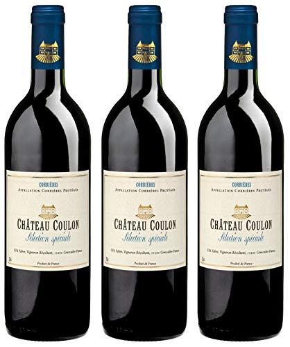 Bio Wein Rotwein Trocken Carigna Grenache Syrah Mouvèdre Frankreich Corbières 2018 Cuvée Vegan Histaminarm Säurearm (3 x 0.75 l)