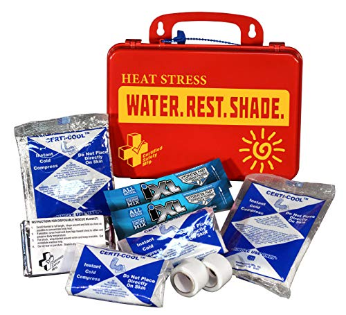 Certified Safety K613-040 18PR Heat Stress Responder Standard First Aid Kit, Poly Red
