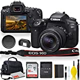 Canon EOS 90D DSLR Camera with 18-55mm Lens, Padded Case, Memory Card, and More - Starter Bundle Set (International Model)