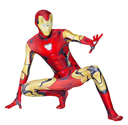 MODRYER Gwen - Disfraz de Spiderman, disfraz de Spiderman, disfraz para adultos y nios, disfraz de superhroe (nios/S/110 cm, Iron Man)