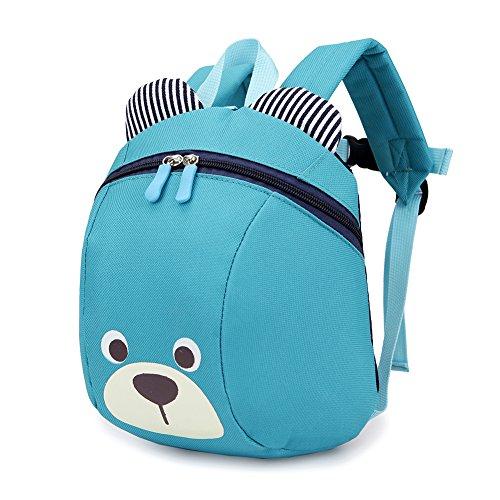 Luerme Kinderrucksack Kleinkind Jungen Mädchen Kindergartentasche Niedlich Cartoon Bär Backpack Schultasche Rucksack, Blau