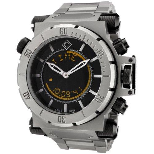 Invicta la colección Las Fuerzas de la coalición de los Hombres analógico Digital Reloj 6423con Titanio Negro Dial