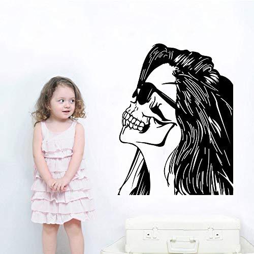 Tianpengyuanshuai Mädchen Kopf Wandmalerei nach Hause kreative Dekoration schönes Mädchen mit Brille Wandbild Wohnzimmer Dekoration 50X62cm