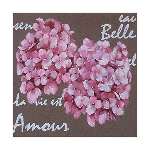 EMDE CH133005-0 Toile 2 Hortensias Amour, Marron/Rose
