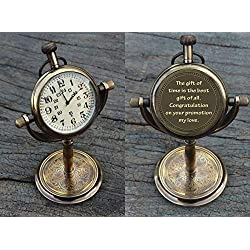 Personalized Antique Desk Clock - Table watch - Desktop clock - Promotional gift, Retirement gift, Anniversary gift, Graduation gift, Engraved gift for Him