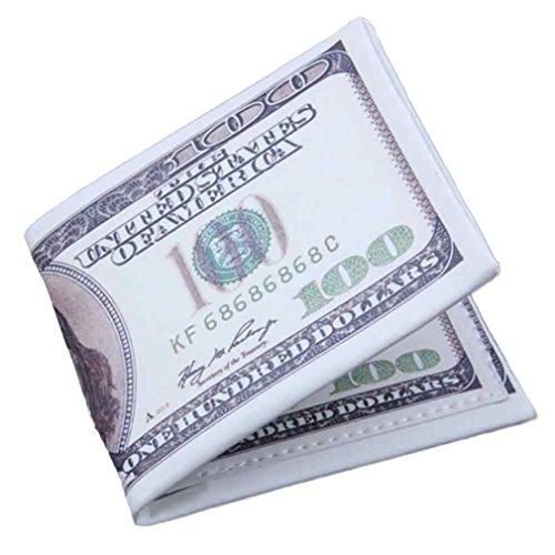 SMYTShop Men Wallet,US Dollar Bill Wallet PU Leather Credit Card Photo Holder Bifold Billfold